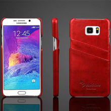 For Samsung Note5 Case Luxury Wallet PU Leather Oil Wax Texture Back Cover Card Slots Shell Free Shipping(China)