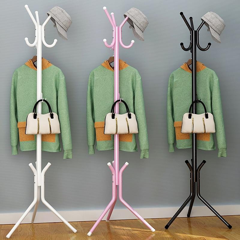 Modern minimalist fashion home art portable hanger racks multi-functional creative stainless steel vertical furniture coat racks<br>