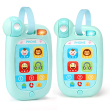 Baby Touch Phone Toy Electronic Music Cell Phone for Children Kids Smartphone Mobile Telephone Baby Telefoon Educational Toys(China)