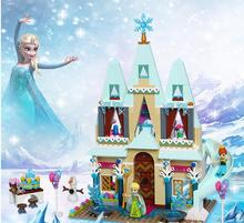 2017 New JG303 Building Blocks Arendelle Castle Princess Anna Elsa Buildable Compatible Girl Figure Toys hot sale