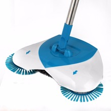 Spin Hand Push Broom Sweeper Household Dust Collector Floor Surface Cleaning Mop Adjustable Convenient Sweeping(China)