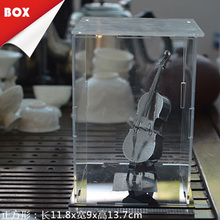 Metal 3D Puzzle Display Box Colors Led Lampholder Cutting Nippers Long Nose Pliers Tweezers Tools Sets