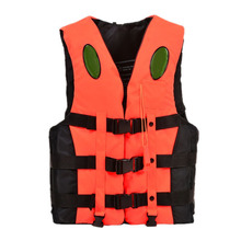 boating Ski Vest Adult PFD Fully Enclosed Size Adult Life Jacket Orange XXXL(China)