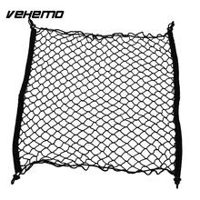 Vehemo Car Trunk Vehicles Rear Cargo Organizer Storage Elastic Mesh Holder w/4 Hooks