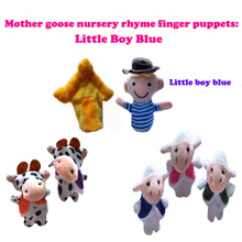 7Pcs Finger Doll Plush Toy the nursery rhyme finger puppet Little boy blue Baby Enlightenment education Enhance thinking ability(China)
