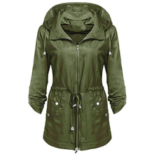 winter Women Waterproof Lightweight Rain Trench Anorak Detachable Hooded Coat vadim manteau femme hiver casaco feminino
