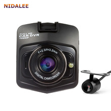 2017 New 2 lens Car DVR Dual Camera GT300 1080P Video Recorder With Rear View Cameras Night Vision Camcorder BlackBox
