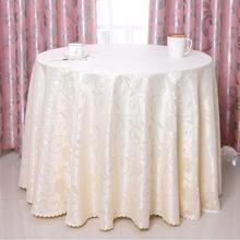 1.2mx1.2m Polyester Linen Round Table Cloth Wedding Banquet Party Dinning Tablecloth Dustproof Table Cover