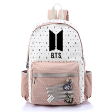 Bangtan Boys BTS KPOP Backpack Girl Canvas Bag Rucksacks Girls Backpacks Students School Bags Mochila Chica Bolso Escuela
