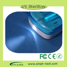 2014 New UV Toothbrush Sanitizer Sterilizer / Holder / Cleaner Bathroom Box with FCC,CE,RoHS and lab test report ,Free Shipping(China)