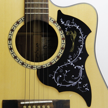 "Classic design 40"" 41"" inch Acoustic Guitar Scratch Plate Pickguard with Hummingbird Flower Decorative Pattern"