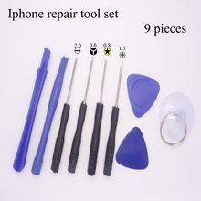 Hot selling 9 in 1 Mobile Phone Repairing Tool Kit Spudger Pry Opening Tool LCD Repair Tools with screwdrivers for Iphone tool(China)