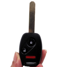 HKCYSEA Remote Car Key 2+1 Buttons With Panic 313.8 Mhz MLBHLIK-1T With 46 Electronic chips For Honda CRV Fit Insight + LOGO