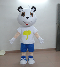 Lovely white bear mascot costume Adult Cartoon Fancy sexy(China)