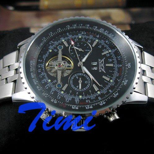 wholesale COOL CHRO AUTO Mechanical Mens S.Steel Watch freeship<br>