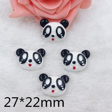 Kawaii  Home decoration 3D flat back planar resin craft cartoon animal panda Figurine DIY hair Bow jewelry accessories