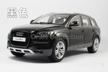 Black Car Model 1:18 Kyosho Audi Q7 2009 SUV Diecast Model Car Off Road Vehicle Cross Country Jeep