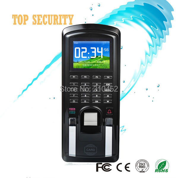 Arabic language and software fingerprint access control TCO/IP color screen fingerprint and RFID card time attendance MF151<br><br>Aliexpress