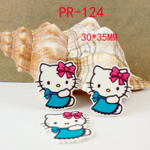 Cartoon patch Hello Kitty Figurine KT cat crafts flat back planar resin acrylic DIY headwear hair accessories PR124