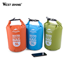 WEST BIKING River Trekking Bags 2L and 5L Swimming Cycling Waterproof Bags Drifting River Trekking Beach Waterproof Sealed Bag(China)