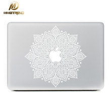 Mimiatrend White Leaves Removable Vinyl Decal Laptop Skin Sticker for Apple Macbook Air Pro Retina 11 13 15  Inch Laptop Skins