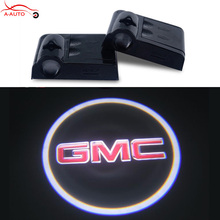 2x Car Door Courtesy Light Logo Projector LED For GMC Sierra 1500 Yukon Envoy Savana Canyon Safari Acadia Terrain Sonoma Suburba