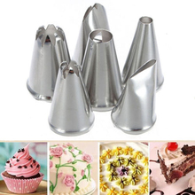 Azerin 6X DIY Stainless Steel Icing Piping Nozzles Pastry Tips Fondant Cup Cake Baking Free Shipping