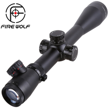FIRE WOLF M3 6-24X50 Tactical Optics Riflescope Red&Green Dot Reticle Fiber Sight Rifle Scope 30mm Tube(China)
