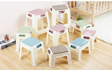 29*20*21CM Eco-friendly PP Square stool Portable Non-slip durable thicken footstools(China)