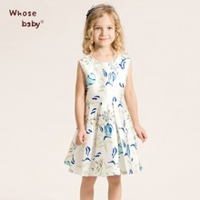 Direct Selling Blue Princess Dress Costume Child Girls Casual Party Dress 13 Year Teens Children Sleeveless O-neck Kids Clothes