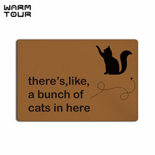 Buy WARM TOUR Funny Saying Cat Non-slip Carpet Welcome Door Mats Indoor Kitchen Entrance Bathroom Living Room Floor Doormat Rug for $14.81 in AliExpress store