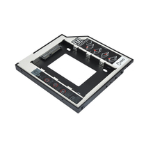"Etmakit Aluminum Universal SATA 3.0 2nd HDD Caddy 12.7mm for 2.5"" 1TB SSD HDD Case Enclosure +LED fo"