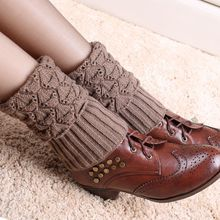 5pairs/lot women winter leg warmer knitted boot cuffs crochet boot socks winter fashion accessries
