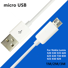 Mobile Phone Charging Cable USB2.0 Data sync Charger Cable 1/2 meter For Nokia Lumia 520 530 535 620 625 630 730 830 925 930 929