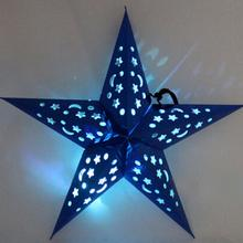 Three-dimensional Laser Pentacle Star Lampshade Bar Ceiling Decoration Ornaments Christmas Decoration