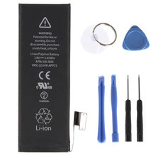 Genuine Replacement Phone Battery 3.8V 1440mAh for Apple iPhone 5 Li-Ion Battery + Tools Kit