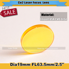 USA Imported Laser Focus Lens 19mm Diameter 63.5mm Focus Length Used For Laser Engraver and Laser Cutting Machine(China)