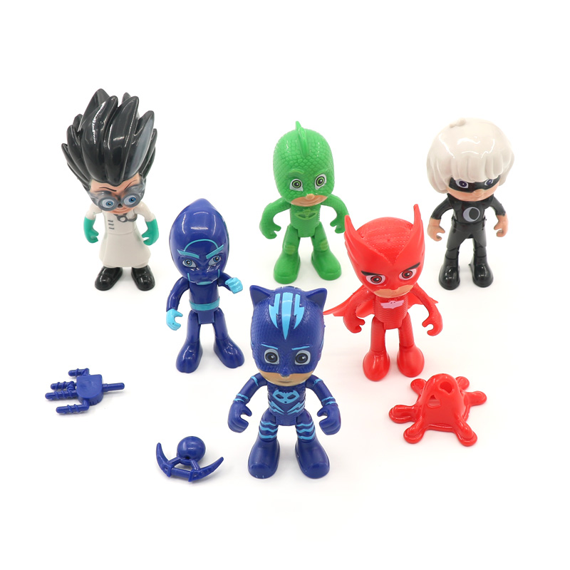 Full Set Pj Masks Toy Figures Characters PVC Toy Set Catboy Owlette Gekko Cloak Action Figure Toys PJ Masks Party For Kid Gifts(China (Mainland))