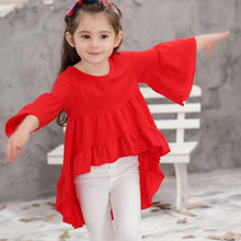 Children 's clothing tide baby fairy small free bamboo dress summer autumn girls half sleeve dress child clothings