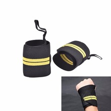 1Pair Gym Training Weight Lifting Gloves Bar Grip Wrist Hand Support Protection(China)