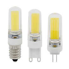 E14 G4 G9 Dimmable COB 2609 SMD LED Light Bulb Crystal Spotlight Chandelier Lighting replace 10w CFL 30w Halogen Lamp(China)