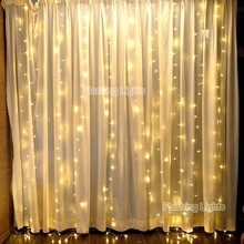 AC220V 2x2M 180 LED icicle Curtain String Fairy Lights Xmas Christmas Wedding Decoration home Garden party Garland Decor