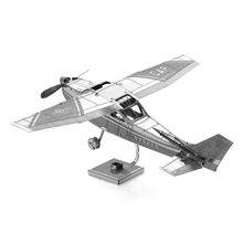 Hot Sale Airplane 3D Puzzle Metal Model Nano Puzzle Jigsaw Cessna Skyhawk Aircraft Earth Metal Model