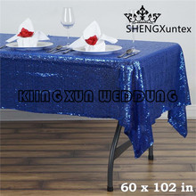"Wholesale Price 60""*102"" Rectangular Sequin Table Cloth \ Cheap Price Wedding Tablecloth"