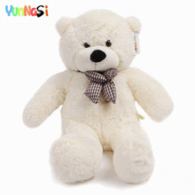 YunNasi 80cm/100cm/120cm teddy bear Giant Stuffed Animal Pillow Cartoon Toys For Children Christmas Gifts Girls New Year Toy(China)