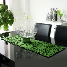 Table Runners Modern Hollow Out Table Runner TV Cabinet Table Runners for Wedding Home Decoration Green/Red/Black(China)