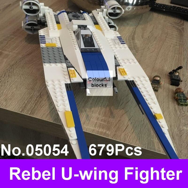 Lepin 05054 679Pcs Star Genuine Series Wars Rebel U-wing Fighter Set Building Blocks Bricks Educational DIY Boy Kids Toys 75155<br>