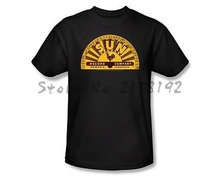 Sun Record Company Traditional Sunrise Rooster Label Logo  Shirt Adult S-3XL men's top tees