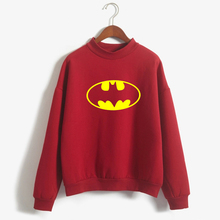 Buy Long sleeve candy color Autumn Winter Hoodies Batman Women Letter printed Pullover Fashion Casual Woman Fleece Sweatshirt for $8.88 in AliExpress store