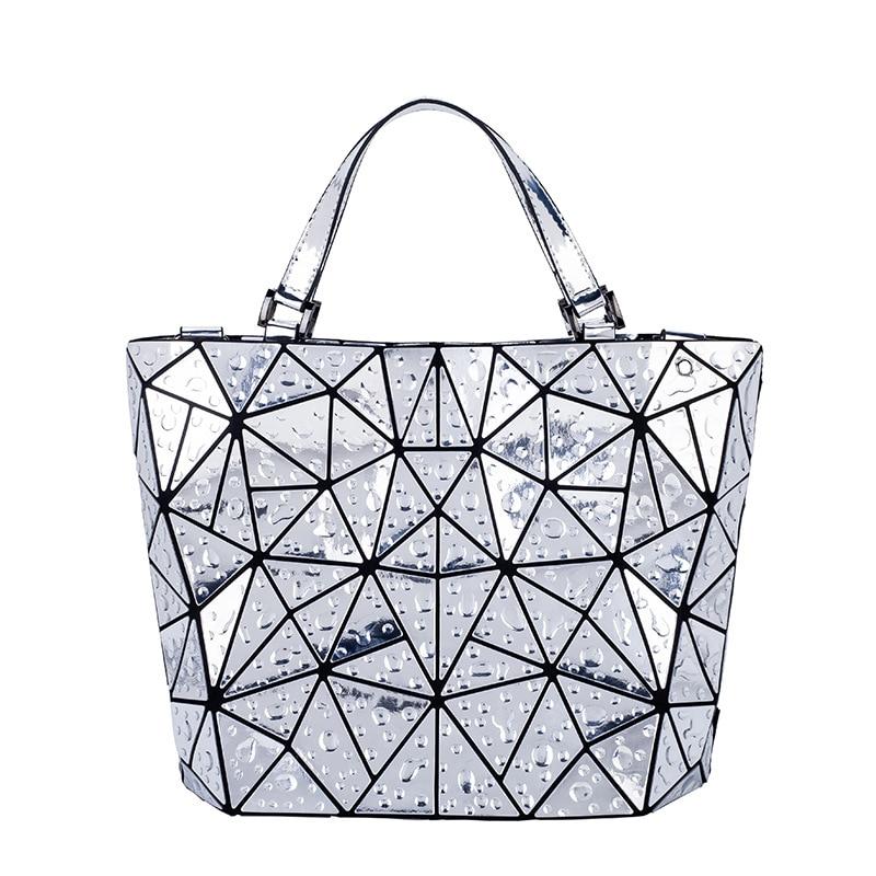 Brand 2018 Womens Geometric handbag Fashion Drops of water Style Totes bao bao Free Shipping Hologram Silver  baobao Bag<br>